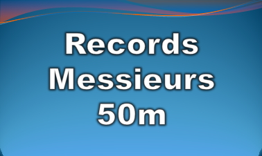 records messieurs 50m